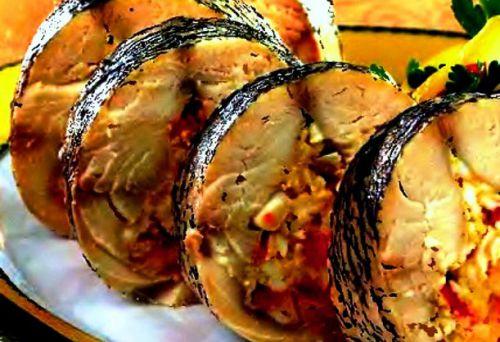 рецепты фаршированной рыбы в фольге в духовке