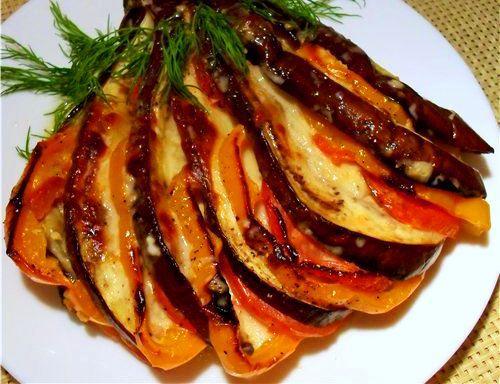 Баклажаны запеченные в духовке от Юлии Высоцкой