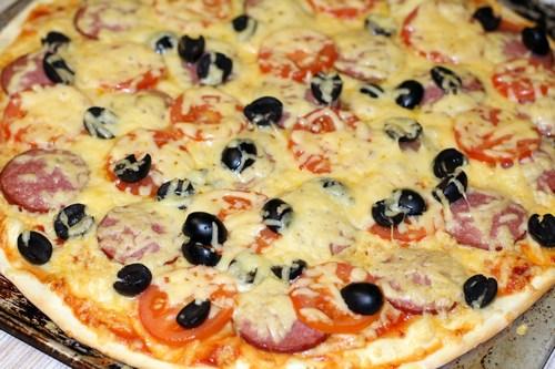 Рецепт пиццы на сковороде за 10 мин
