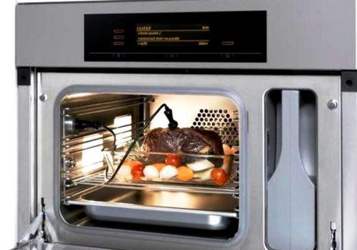 В большинстве духовок предусмотрет термощуп для контроля готовности запекаемого блюда