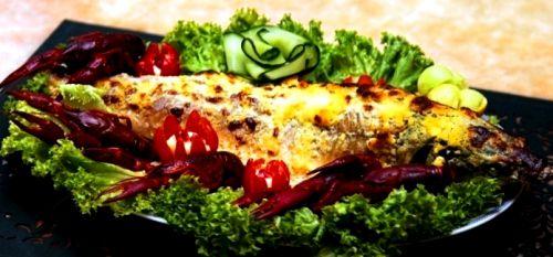 Царская рыбка стерлядь с сыром запеченная целиком
