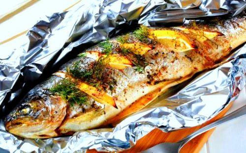 рецепты форель радужная с овощами в духовке