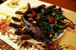 Рецепт осетра в духовке целиком