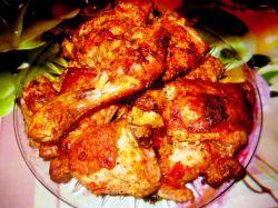 Куриные бедра в духовке на противне