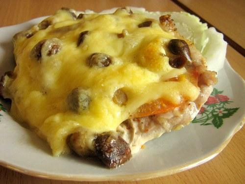 Курица с сыром и в сметане