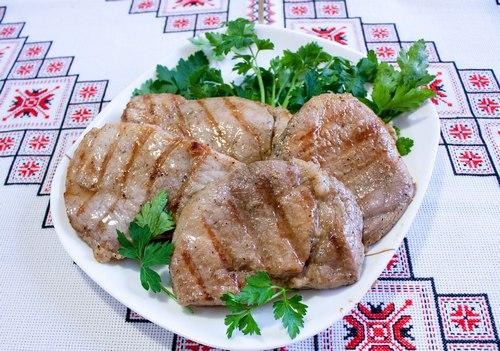 Шницель из свинины на сковороде