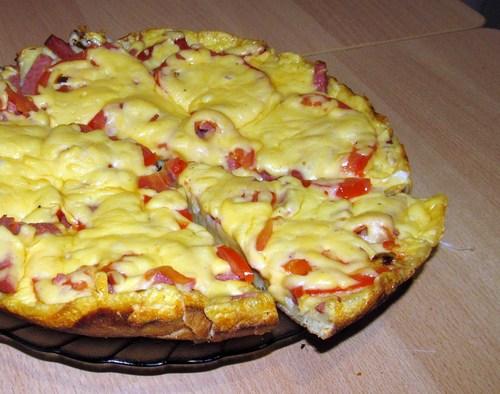 Пицца пяти минутка на сковороде