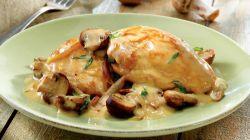 Курица со сметаной на сковороде